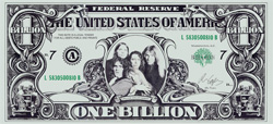 Alice Cooper Billion Dollar Bill Photo