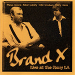 Brand X: Live at the Roxy LA CD Album Review